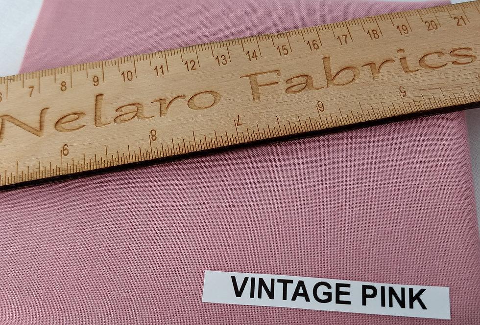 Spectrum Plain Vintage Pink Solid fabric by Makower