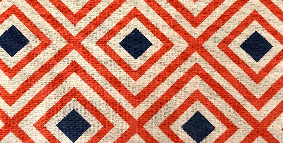 Geo Pop Canvas orange fabric by Robert Kaufman