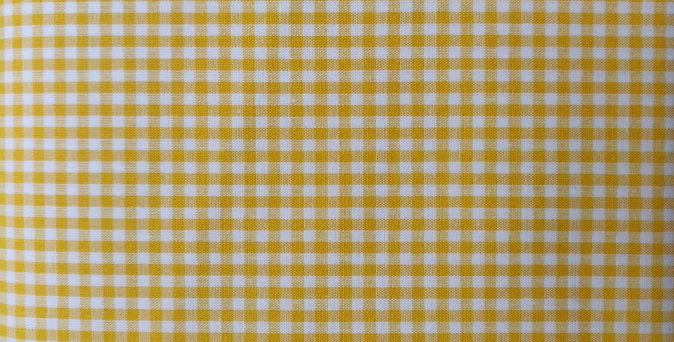 Tiny Gingham yellow fabric by John Louden