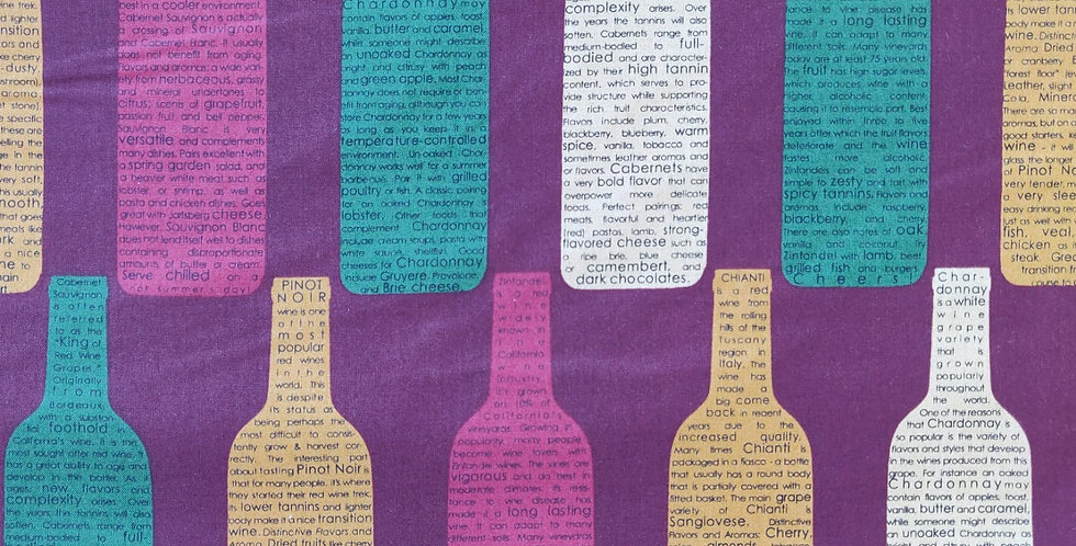 Vineyard Wine Bottles Collection fabric by Robert Kaufman