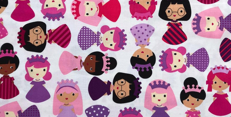 Girl Friends Princess fabric by Robert Kaufman