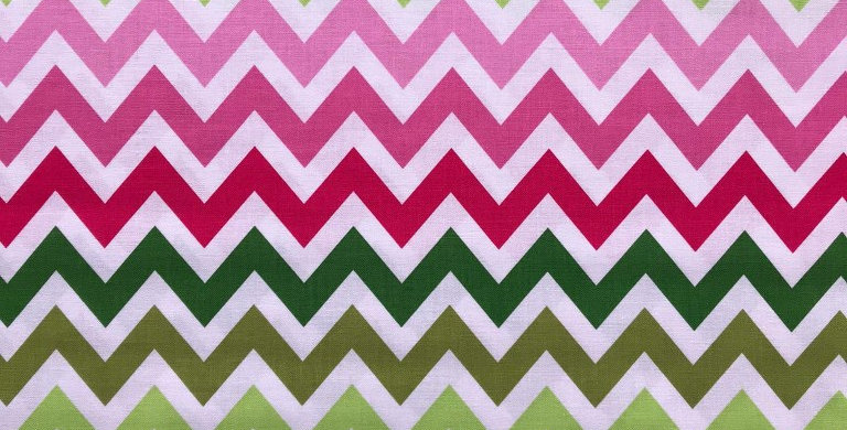 Remix Chevron zigzag pink and green fabric by Robert Kaufman