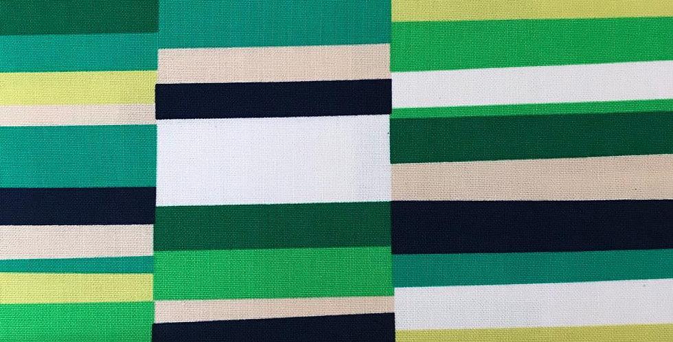 Geo Pop Canvas Emerald green fabric by Robert Kaufman