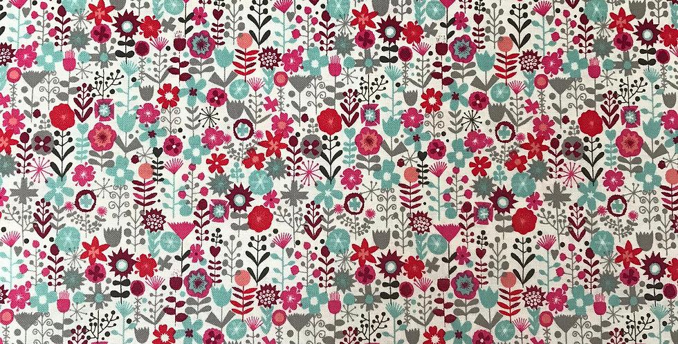 Tiny Flowers fabric by Makower