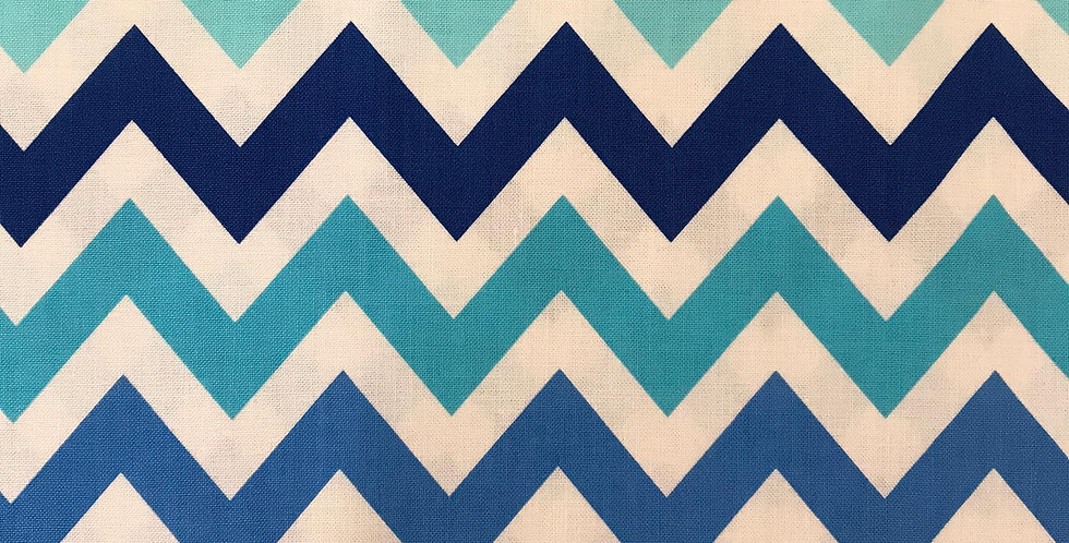 Remix Chevron zigzag blue fabric by Robert Kaufman
