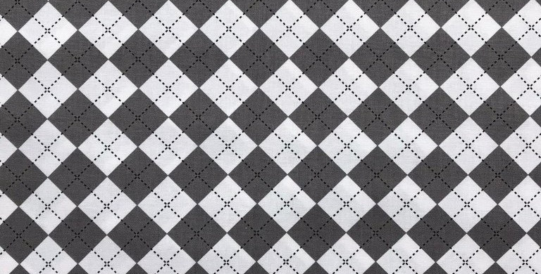 Remix Harlequin pattern grey black and white fabric by Robert Kaufman