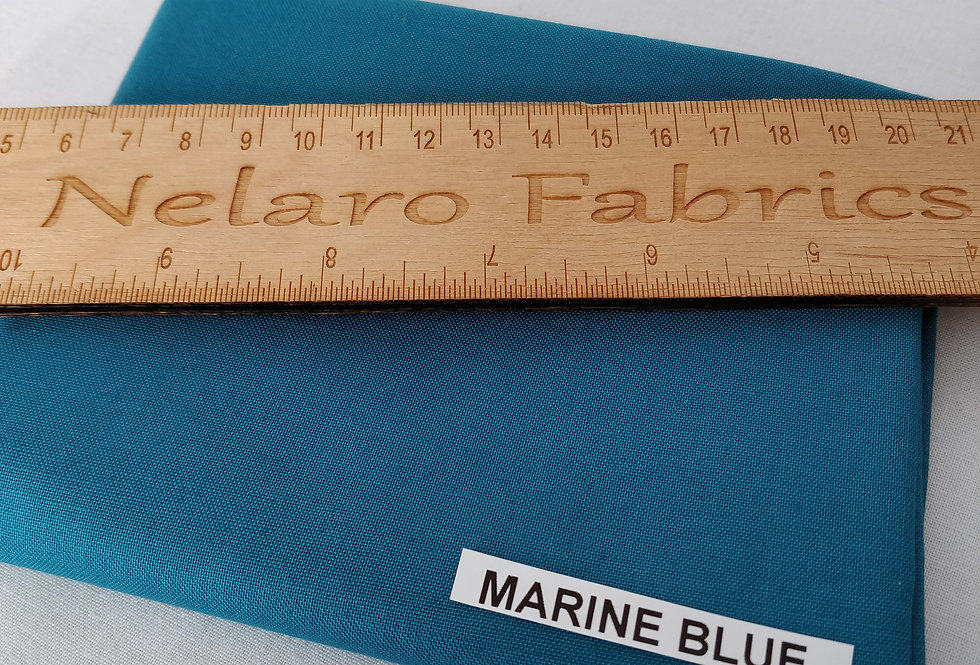 Spectrum Plain Marine Blue Solid fabric by Makower