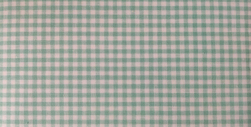 Tiny Gingham light green fabric by John Louden