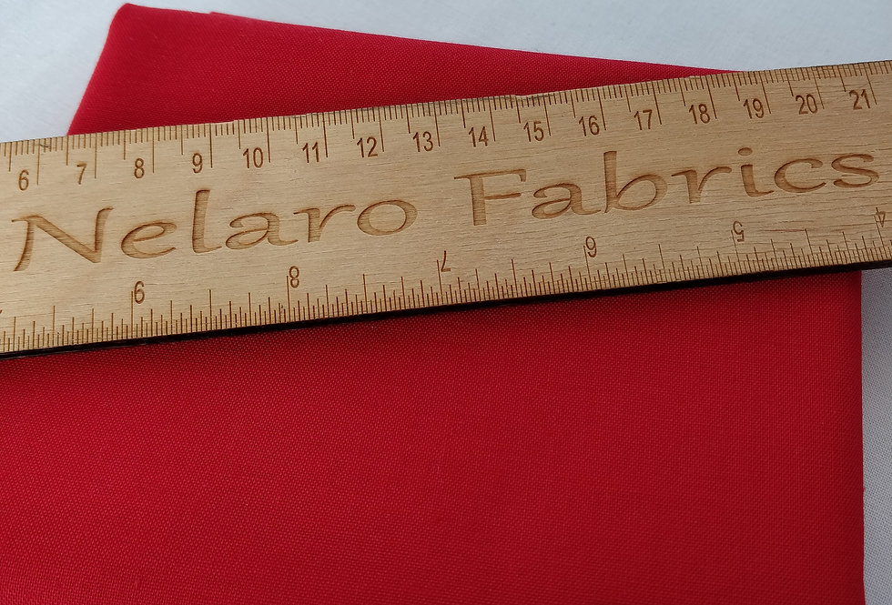 Spectrum Plain Red solid fabric by Makower