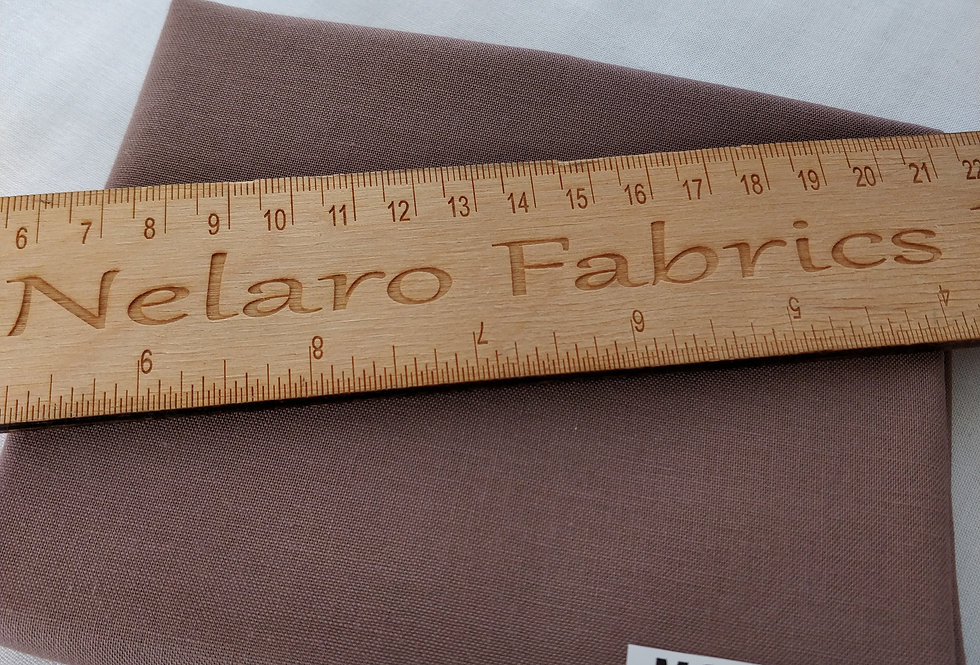 Spectrum Plain Mocha Brown Solid fabric by Makower