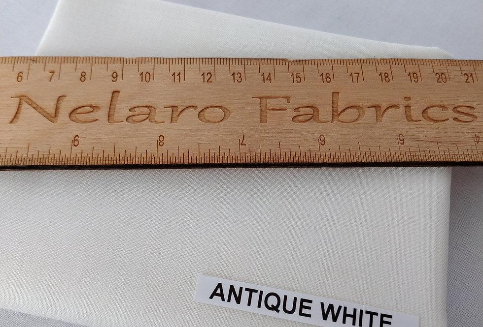 Spectrum Plain Antique White Solid fabric by Makower
