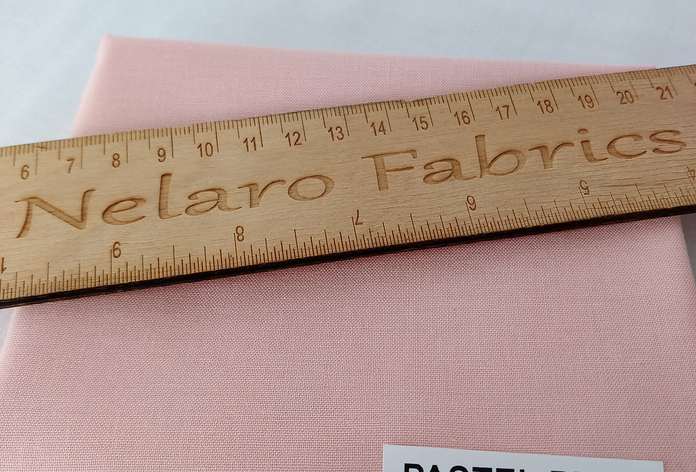 Spectrum Plain Pastel Pink Solid fabric by Makower