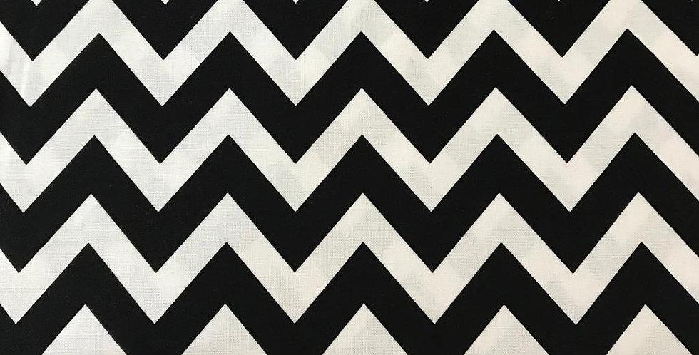 Remix Chevron zigzag black fabric by Robert Kaufman