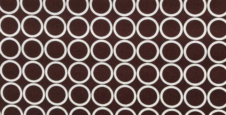 Metro Living Circles brown fabric by Robert Kaufman