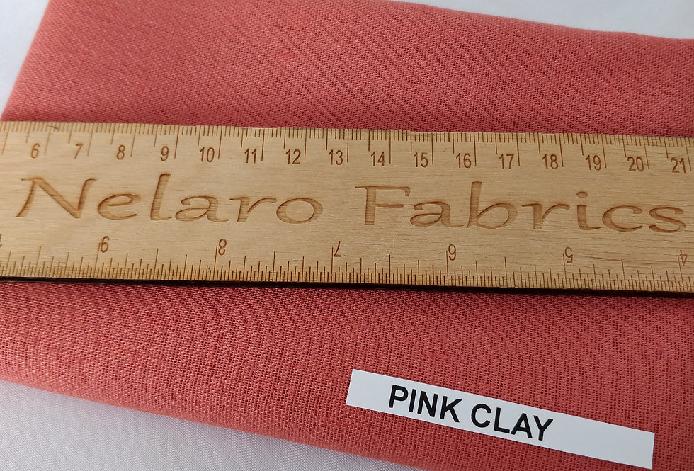 Brussels Washer Linen/rayon blend Pink clay fabric by Robert Kaufman
