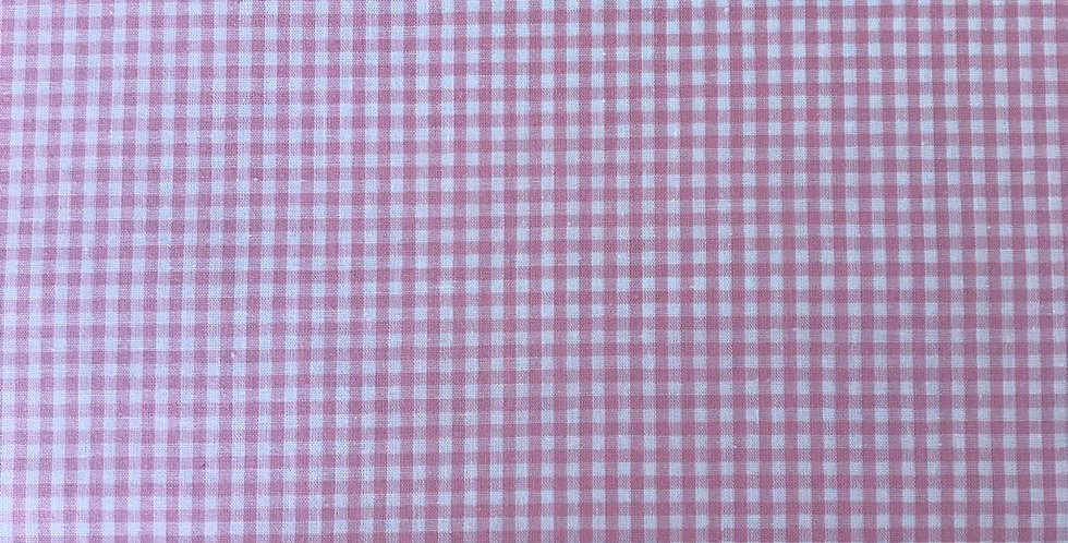Tiny Gingham pink fabric by John Louden