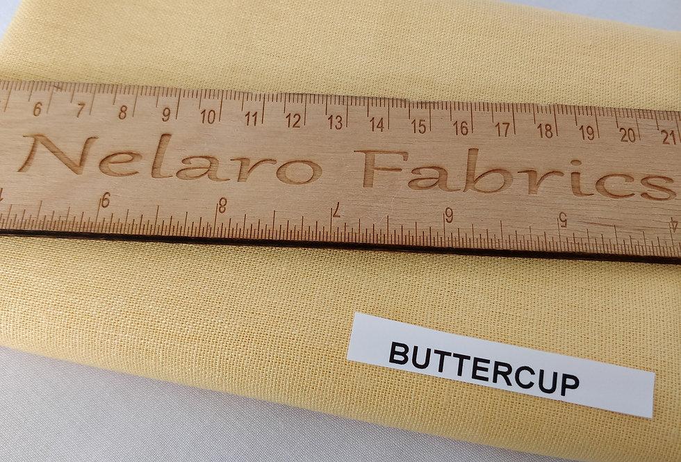 Brussels Washer Linen/rayon blend Buttercup fabric by Robert Kaufman
