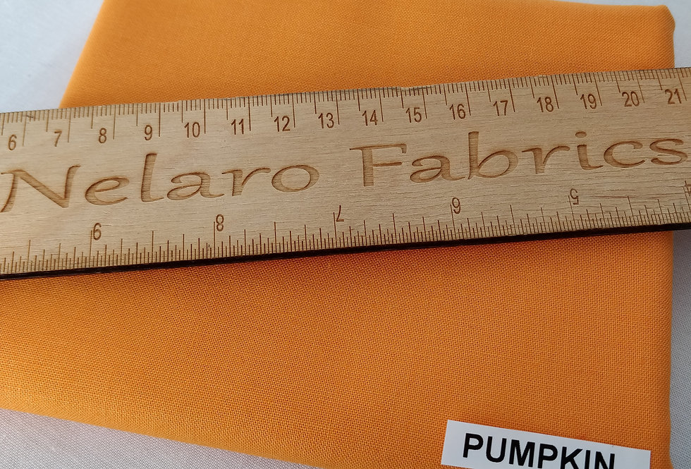 Spectrum Plain Pumpkin Orange Solid fabric by Makower