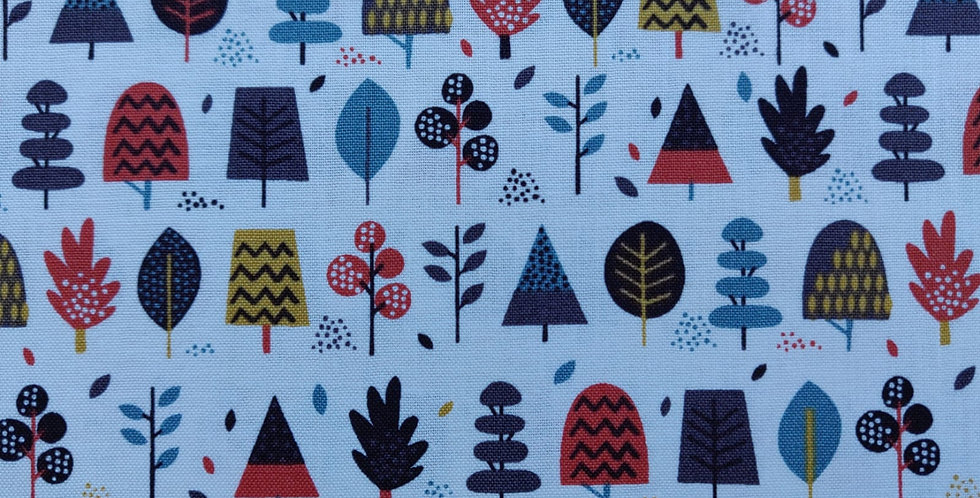 Windy Day Trees fabric by Makower