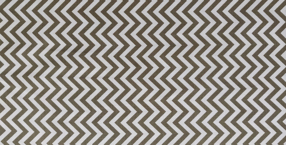 Tyre Treads Chevron Zig-zag khaki fabric by Michael Miller