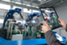 Industrial 4.0 , Augmented reality conce