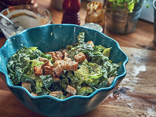 Grilled Caesar Salad With Tofu Caesar Dressing