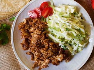 Pulled Chipotle Chicken With Cilantro Slaw
