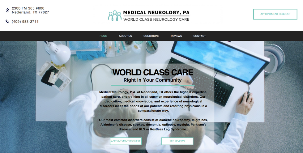 This website for Medical Neurology, P.A. has a beautiful video background, text and image animations, parallax, and a couple auto play video boxes. This is my latest project and I'm still currently working with the client to finish some details.