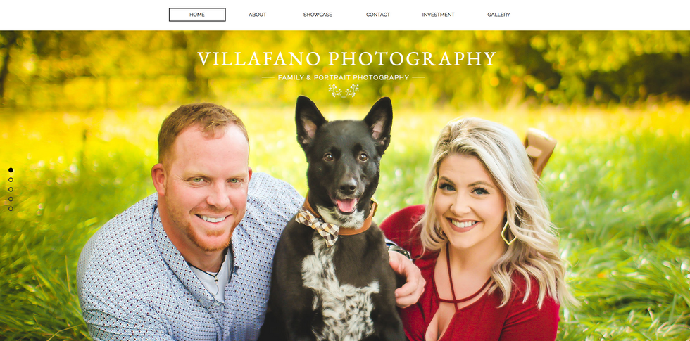 This is my wife's family & portrait photography website Villafano Photography. The layout  showcases her beautiful images,  has a simple parallax scroll feature and includes her gallery to entice potential clients to book with her!