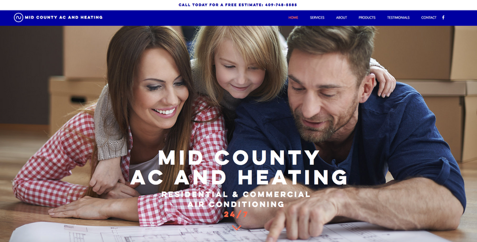 This was a quick and simple job for Mid-County AC & Heating. No other competitors in our area have a nice looking website that is functional and user-friendly​. This will help them stand out immensely.