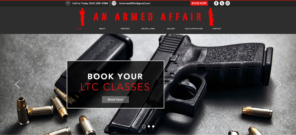 This is a link to An Armed Affair. Creative Site Pro designed this beautiful website for their small business. They were very pleased with their web design for their license to carry business.