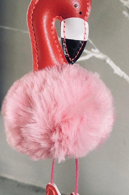Flamingo Bag Charm/Key Ring