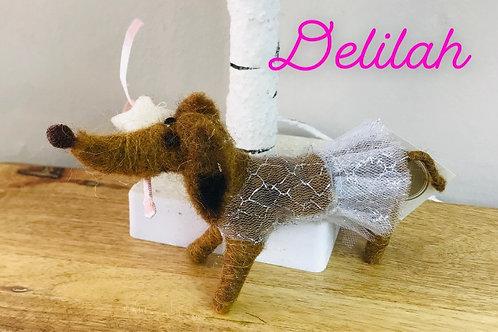 'Delilah' Felt Sausage Dog