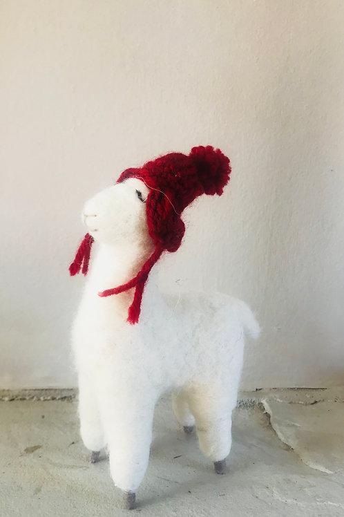 """Lucy"" Woollen Llama"