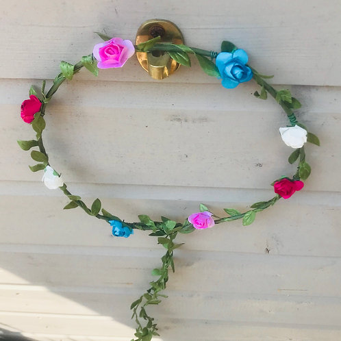 Pink & Blue Floral Garland