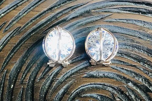 Crystal Cage Earrings