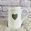 Thumbnail: White Jug with Grey Heart