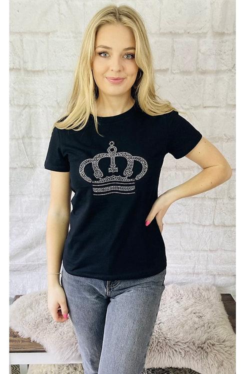 Diamanté Crown T-Shirt
