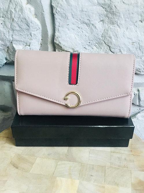 Pink Buckle Design Wallet