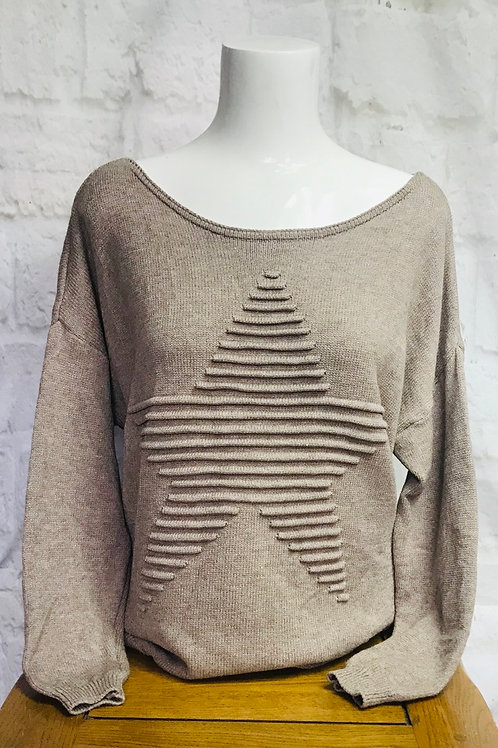 Mocha Star Jumper