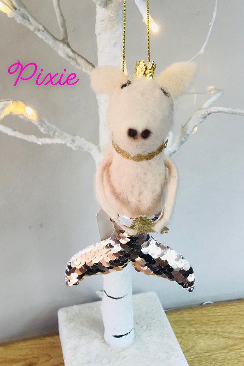 'Pixie' Glittery Gold Mermaid Pig
