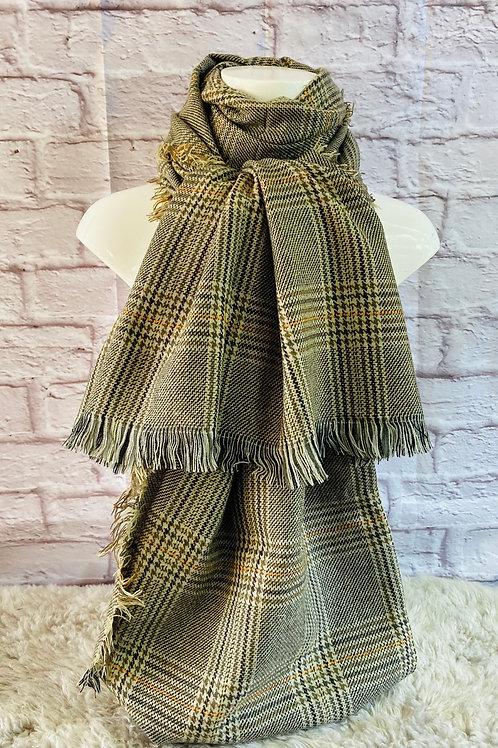 Tweed Tartan Wrap Scarf