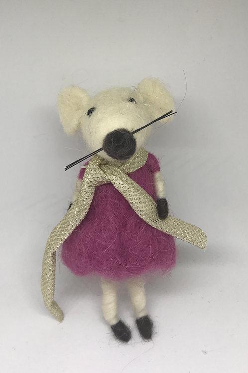 """""""Mabel"""" - Cute Woollen Mouse in Dress"""