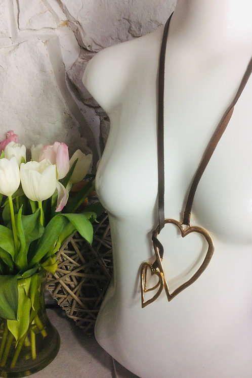Triple Gold Hearts Necklace