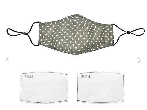 Khaki Polka Dot Face Mask