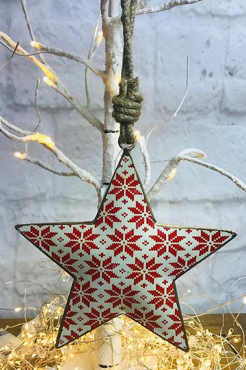 Snowflake Pattern Metal Star