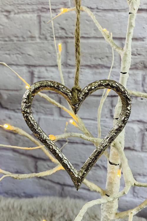 Hanging Metal Heart - 10cm