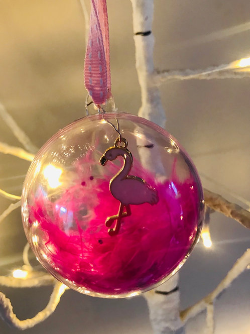 Baby Pink Flamingo Bauble
