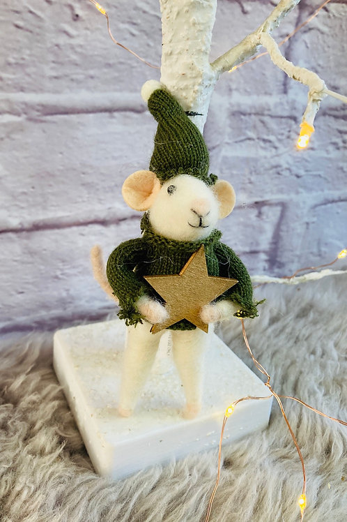 'Miller' Woollen Mouse With Star