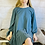 Thumbnail: Scoop Back Frill Hem Dress in Petrol Blue